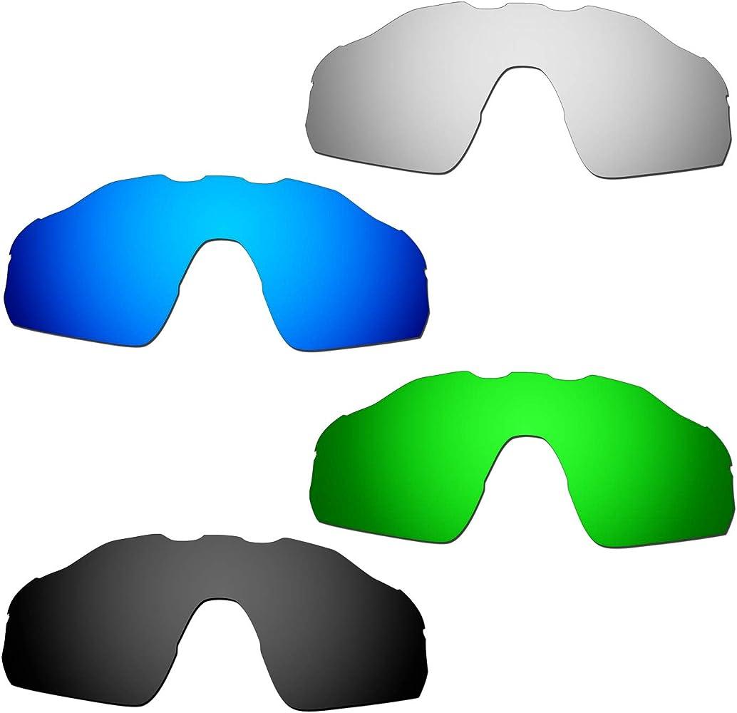 Amazon.com: HKUCO Reinforce Mens Replacement Lenses For Radar EV Pitch  Blue/Black/Titanium/Green Sunglasses: Clothing