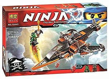 Amazon.com: 221pcs Bela 10445 Phantom Ninja tiburón aéreo ...