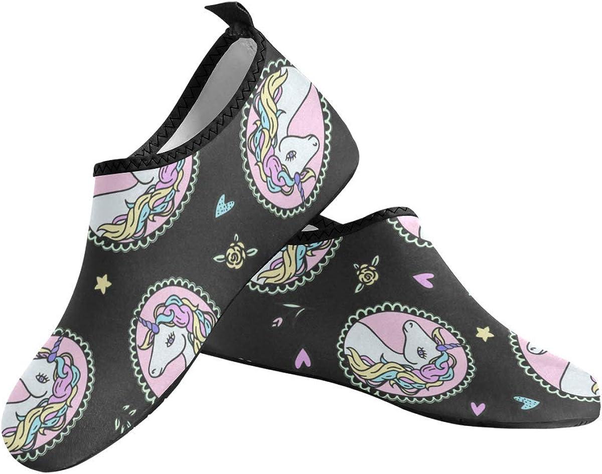 Women Water Shoes Cute Unicorn Barefoot