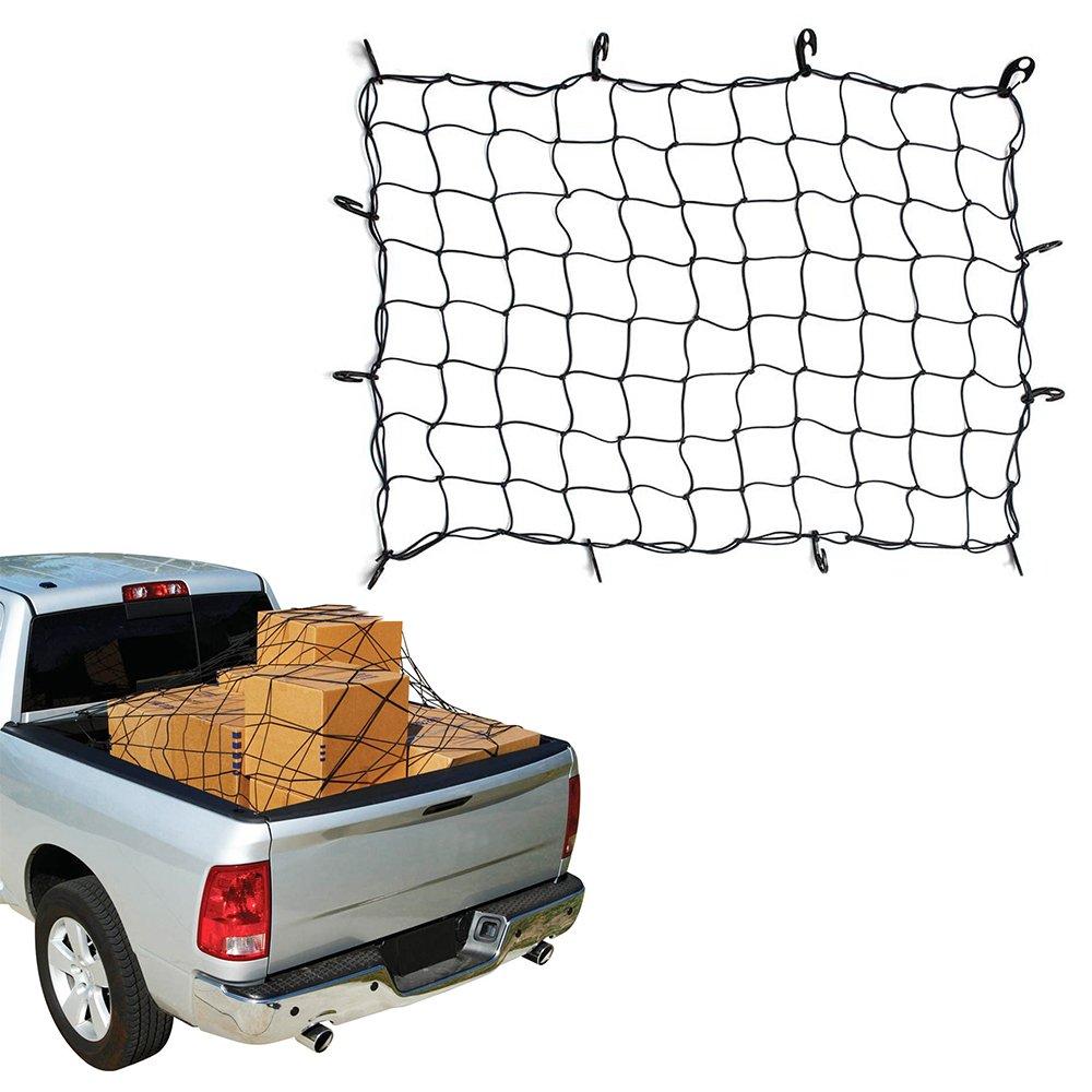 ZILONG Cargo Net 47/'/'x36/'/' Multipurpose Elastic Bungee Envelope Style Trunk Luggage Cargo Storage Network Organizer Net Storage Mesh with 12 Adjustable Hooks Stretches to 75/'/'x55/'/' 4332990396