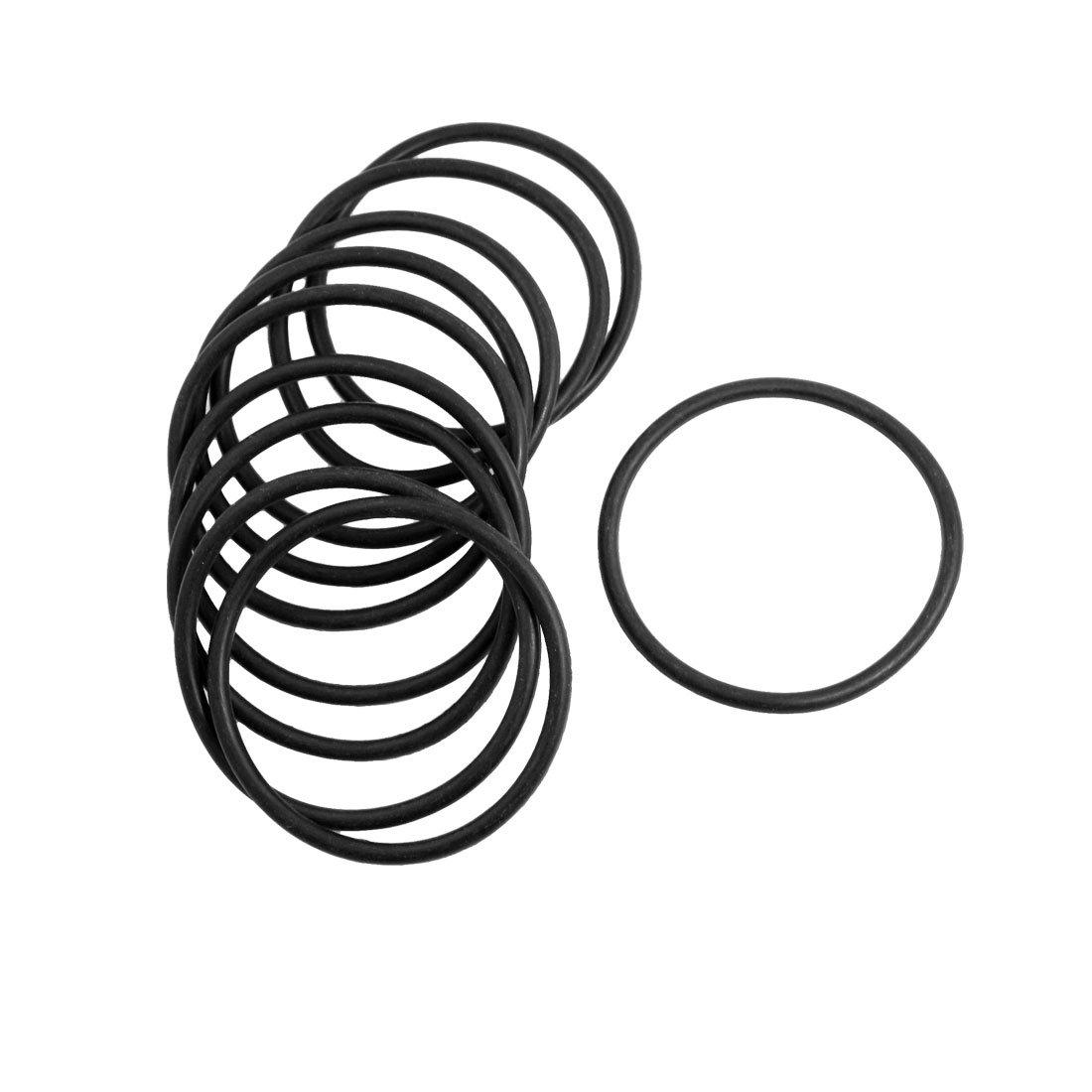 10 Pcs 3mm x 52mm Rubber Sealing Oil Filter O Rings Gasket Black
