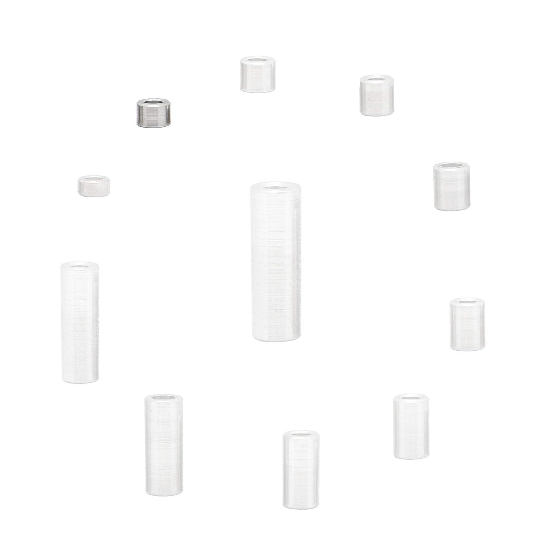 4 St/ück Abstandhalter H/ülsen Abstandsh/ülsen Distanzbuchsen Abstandsbuchsen Schildhalter /Ø Au/ßen 6 mm L/änge 5 mm FASTON Aluminium Distanzh/ülsen M3 /Ø innen 3,2 mm
