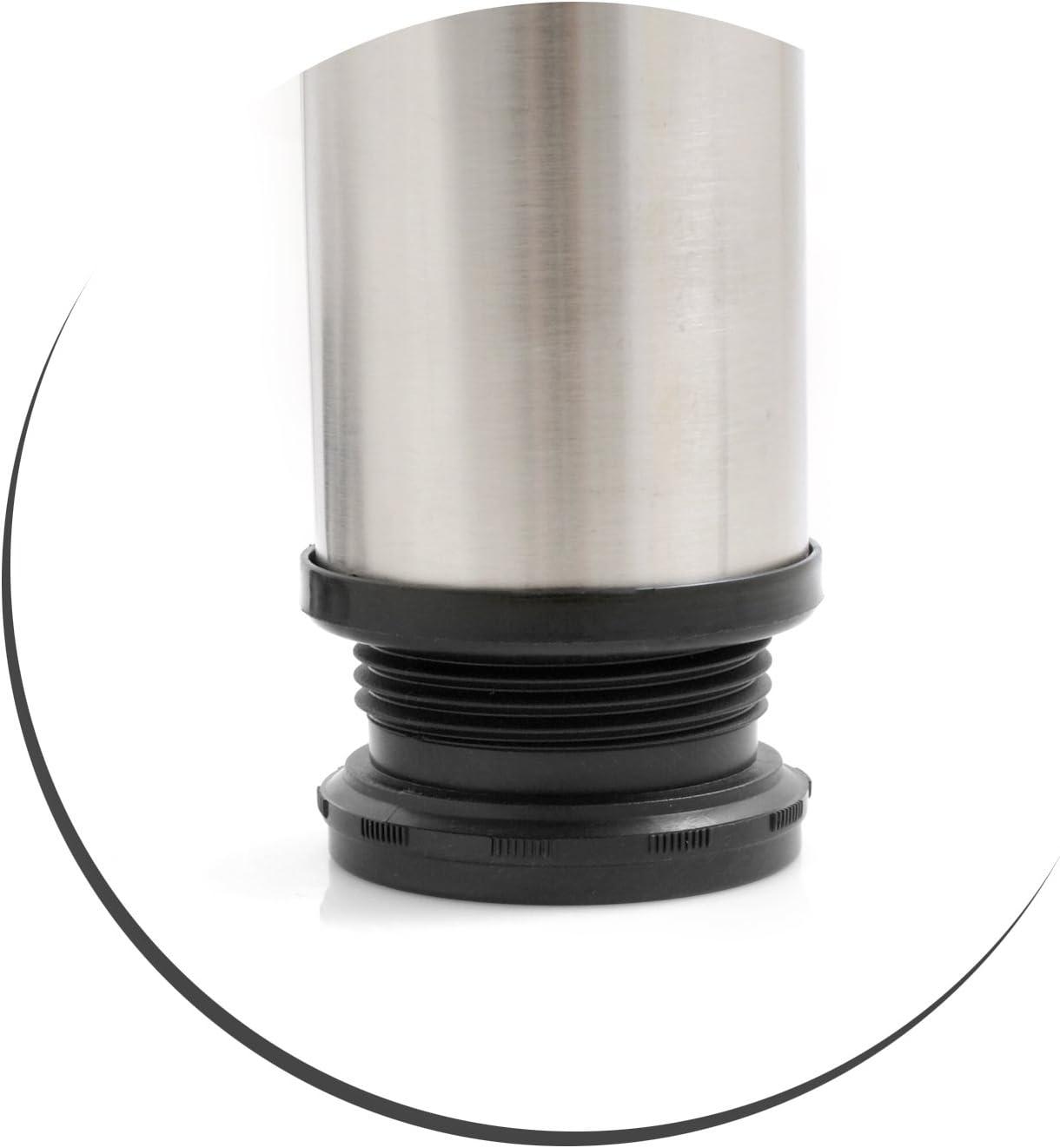 hauteur r/églable de 120 /à 140 mm. Design61/Lot de 4/pieds de meubles en acier inoxydable de 50/mm de diam/ètre pied de table de lit
