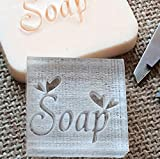 New Arrival Natural Handmade acrylic soap seal stamp mold chapter mini diy SOAP patterns organic glass 4x4 cm