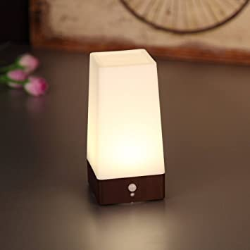 bedroom lantern lamp kt motion sensor led night light for bedroom bathroom battery