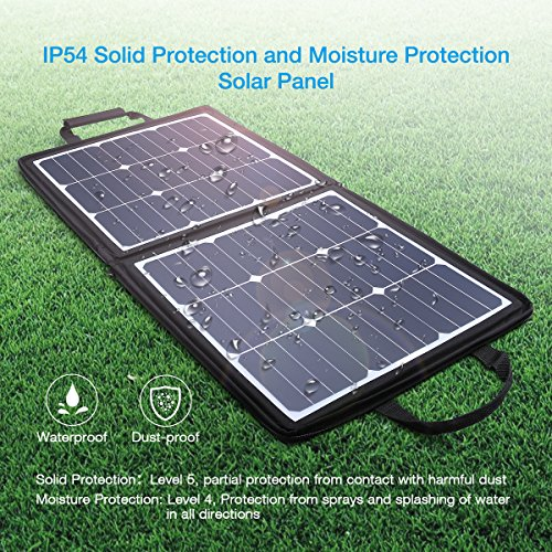 POWERADD [High Efficiency] 50W Solar Charger, 18V 12V SUNPOWER Solar Panel for Laptop, iPhone X / 8/8 Plus, iPad Pro, iPad mini, Macbook, iPad Samsung, ChargerCenter, Island Region and Country Tours by POWERADD (Image #1)