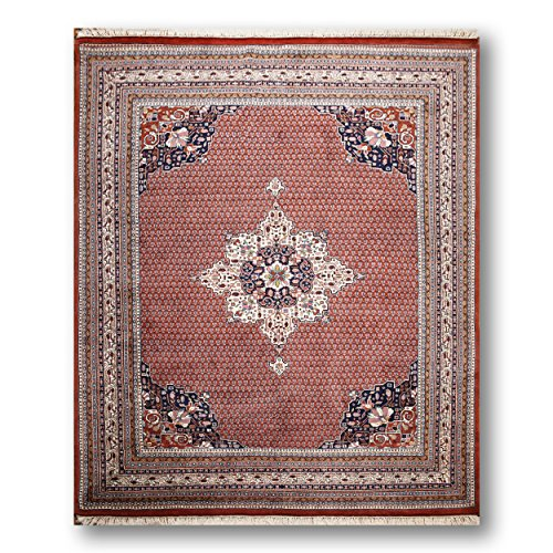 Bidjar Persian Oriental Area Rug (8'x10' Rusty Red, Ivory, Navy Blue, Aqua, Green, Multi Color Hand Knotted Bidjar Oriental Persian Area Rug 100% Wool)
