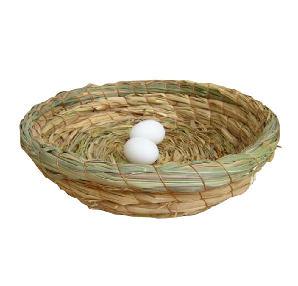 Pigeon Nest Straw Bird Nest Egg Nest Flat Bottom Nest Dove Nest-23*21 CM Black Temptation