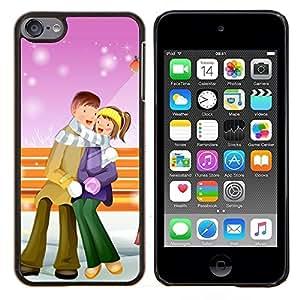 EJOOY---Cubierta de la caja de protección para la piel dura ** Apple iPod Touch 6 6th Touch6 ** --Pares lindos de Navidad de invierno