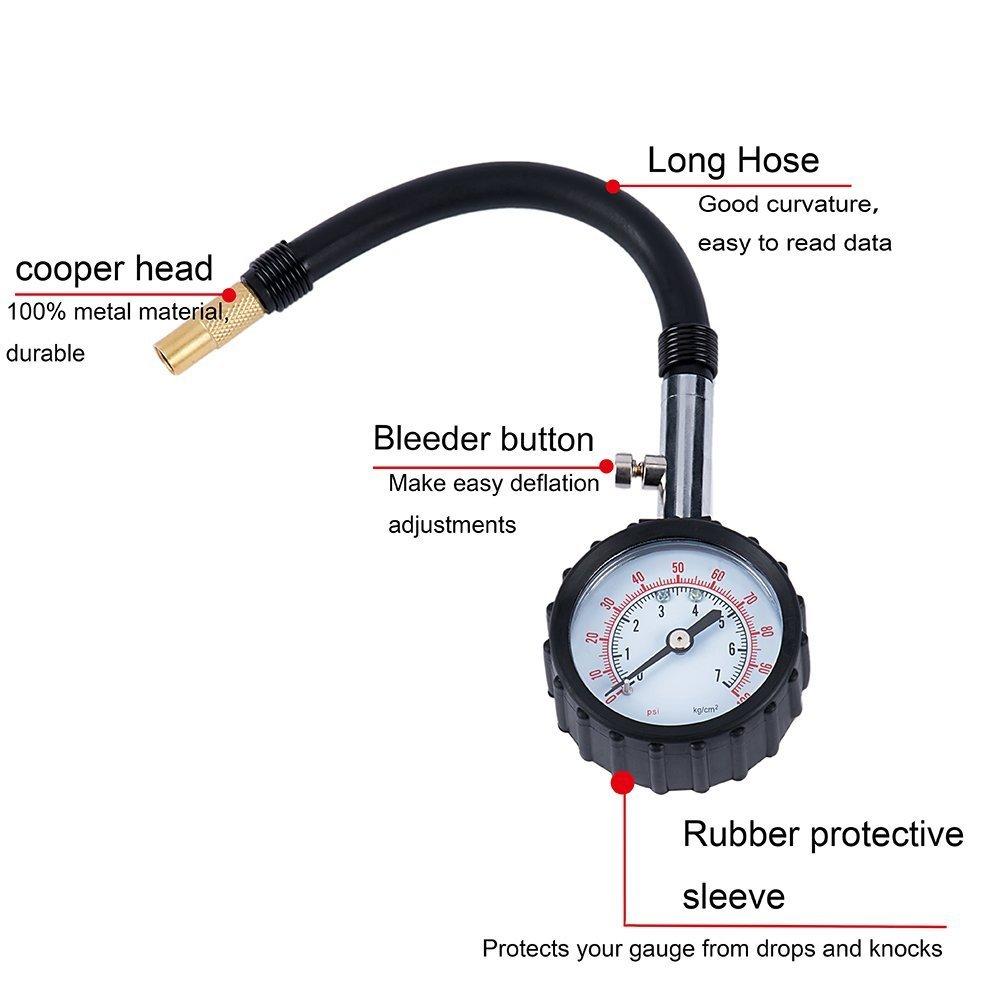 Medidor de Presión Manómetro Neumáticos Indicador Presion neumaticos Para Coche camion moto: Amazon.es: Coche y moto