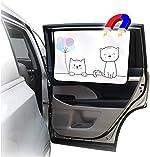 ggomaART Car Side Window Sun Shade - Universal Reversible Magnetic Curtain