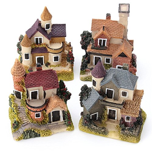 home garden decor Cute Mini Resin House Miniature House for sale  Delivered anywhere in USA