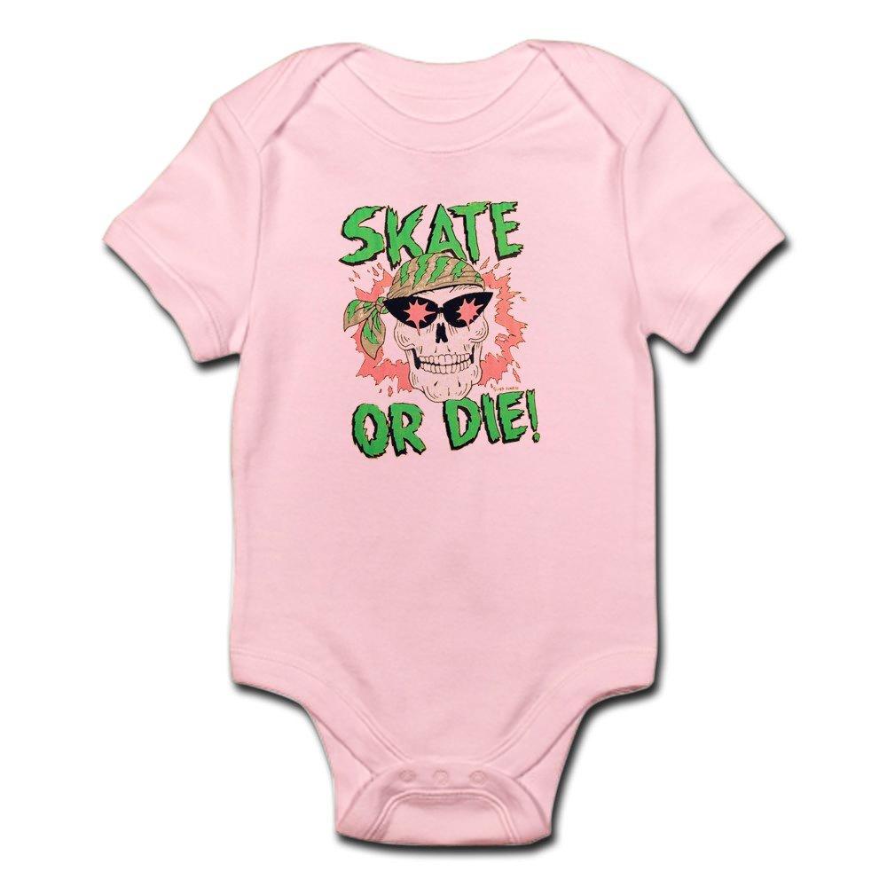 CafePress Retro 80s Skate Die Skull Body Baby Bodysuit