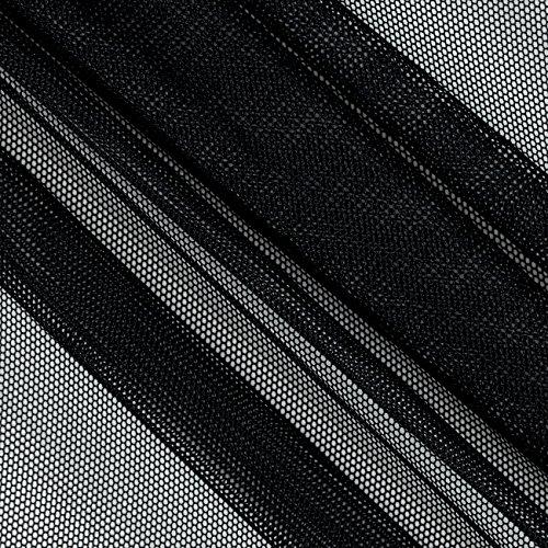 Nylon Mesh Netting - Ben Textiles Inc. Power Mesh Black Fabric By The Yard
