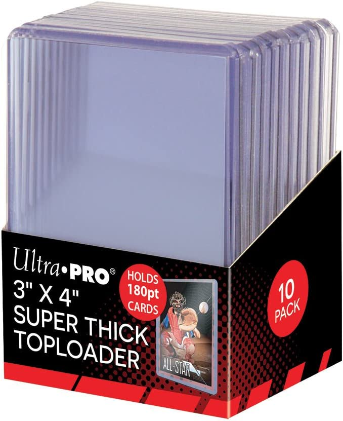 """Ultra Pro 3"""" X 4"""" Super Thick 180PT Toploader 10ct : Sports Related Display Cases : Sports & Outdoors"""