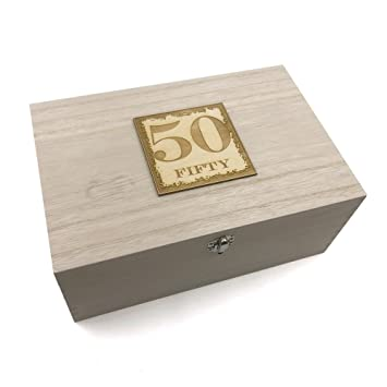 50th Birthday Gift Large Memories Keepsake Box Amazon Co Uk Toys