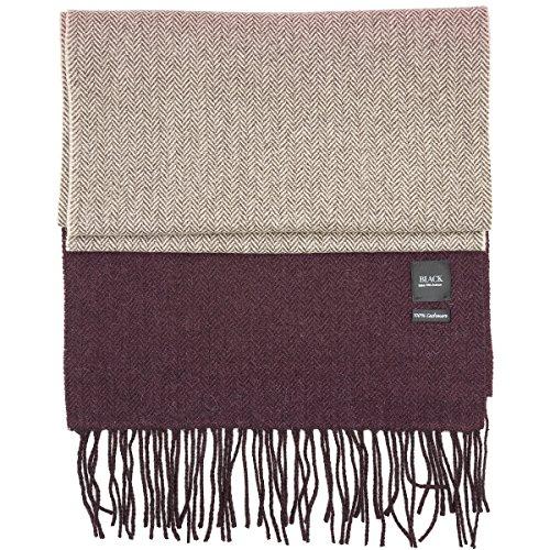 saks fifth avenue 100% cashmere winter scarf multiple patterns (wine beige herringbone - Avenue Cashmere Fifth