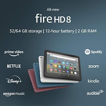 Amazon Com All New Fire Hd 8 Tablet 8 Hd Display 32 Gb Designed For Portable Entertainment Plum Kindle Store