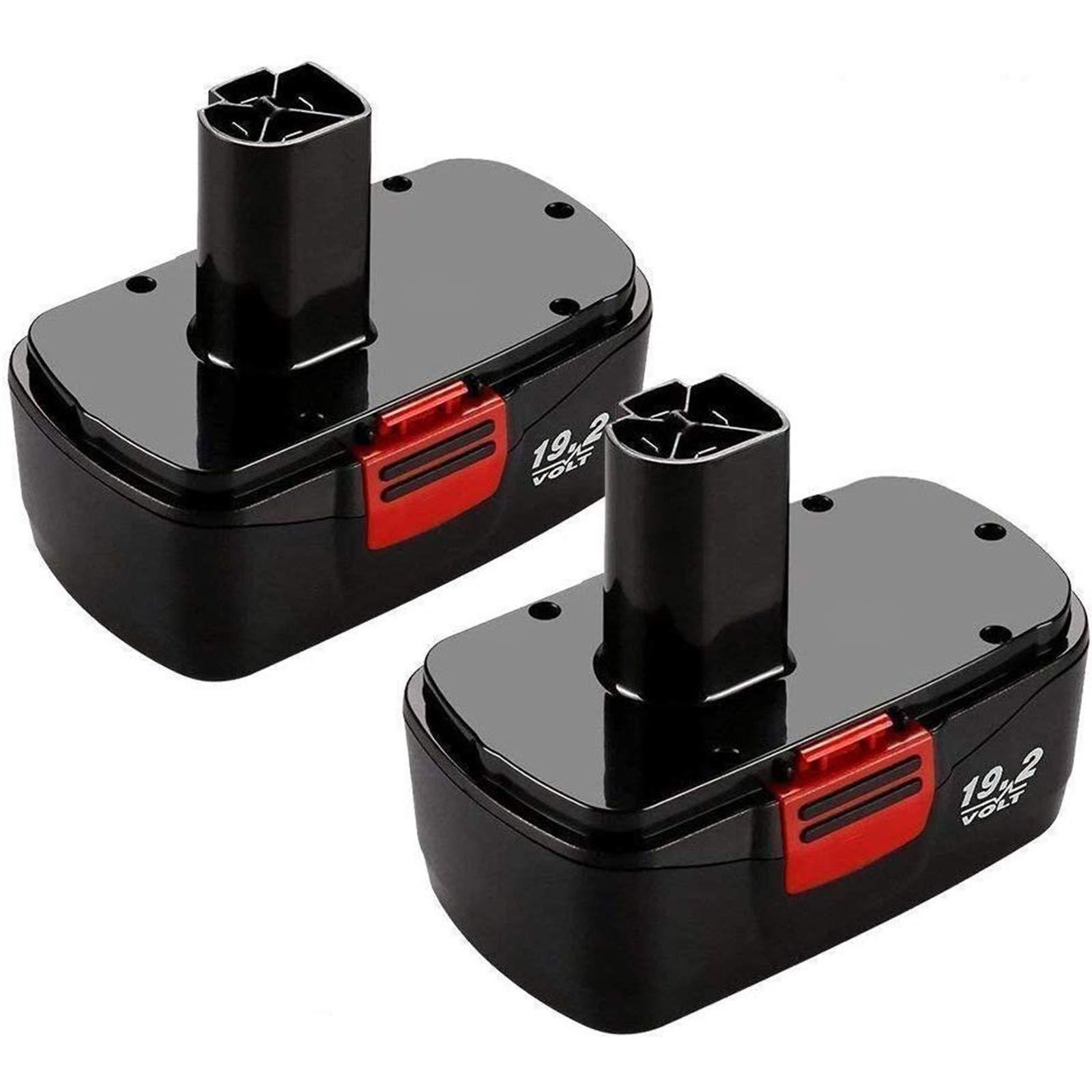 2Packs 19.2 Volt 3.6Ah Battery for Craftsman C3 DieHard 130279005 130279003 130279017 315.113753 315.115410 315.11485 1323903 1323517 11375 11376 Cordless Drill Tool