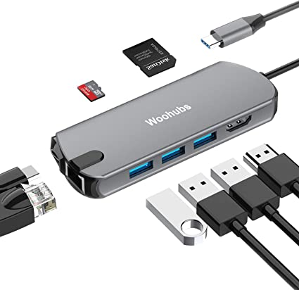 8 in 1 USB C Type-C Hub Multiport Charging Adapter Card Reader For MacBook Pro