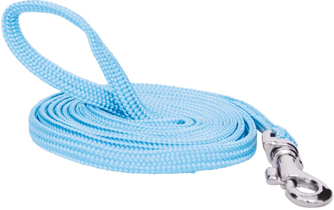 Catit Nylon Cat Leash with Gold-Plated Bolt Snap, Blue