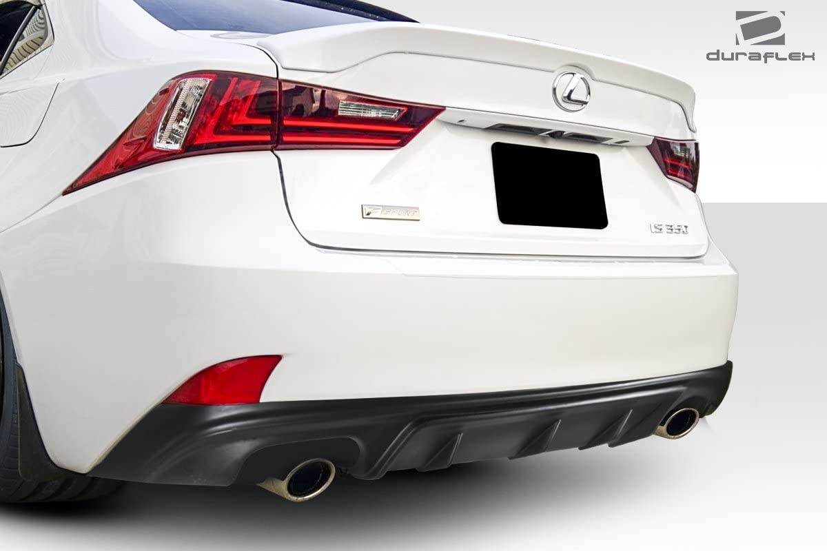 Compatible With IS 2014-2015 F Sport Models only 1 Piece Body Kit Brightt Duraflex ED-LCB-217 AM Design Style Rear Diffuser