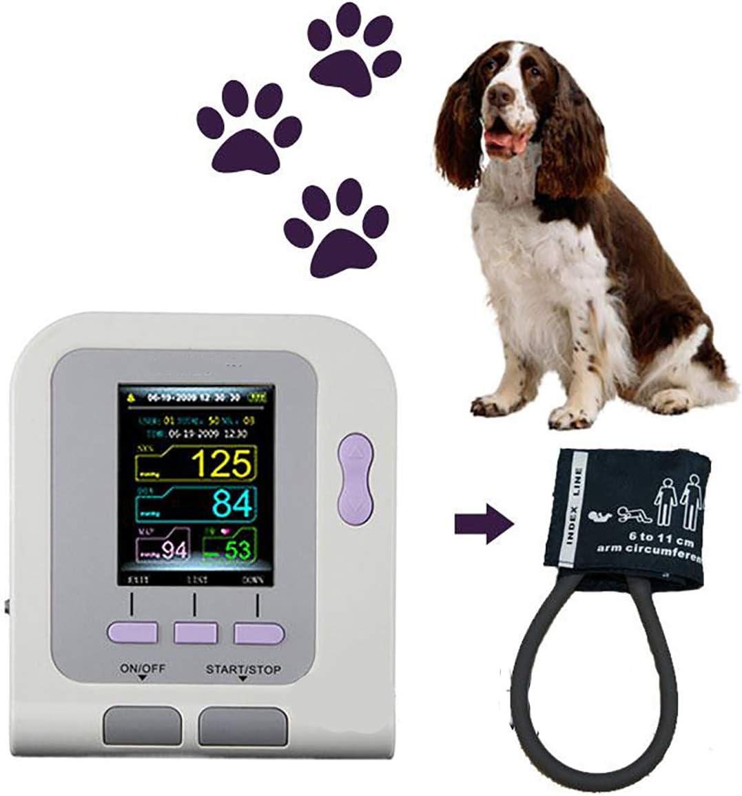 WGng Uso Veterinario Veterinario Digital Monitor de presión Arterial, PNI + Brazalete + Software