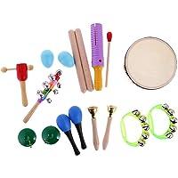 KESOTO 10Pcs Baby Kids Music Instrument Percussion Finger Castanet Sounder Bell Set