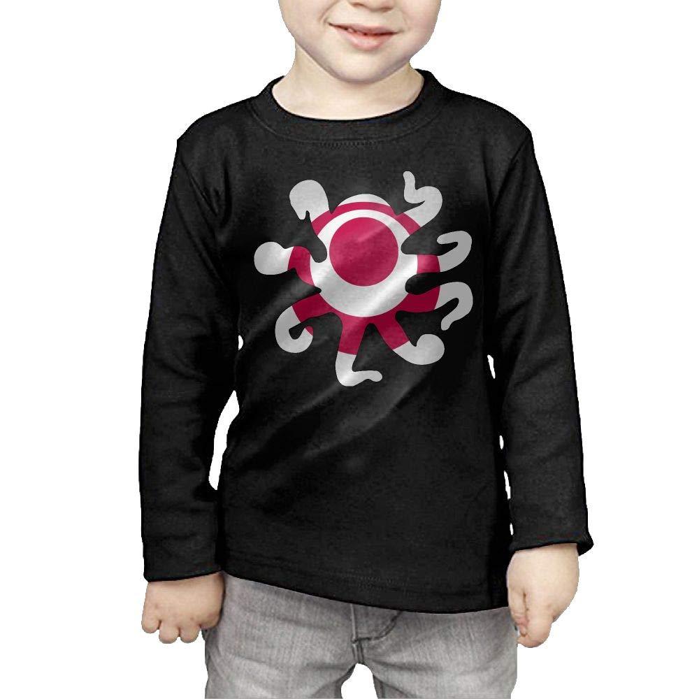 CERTONGCXTS Baby Girls Kids Okinawa Flag Octopus Shaped ComfortSoft Long Sleeve Tee