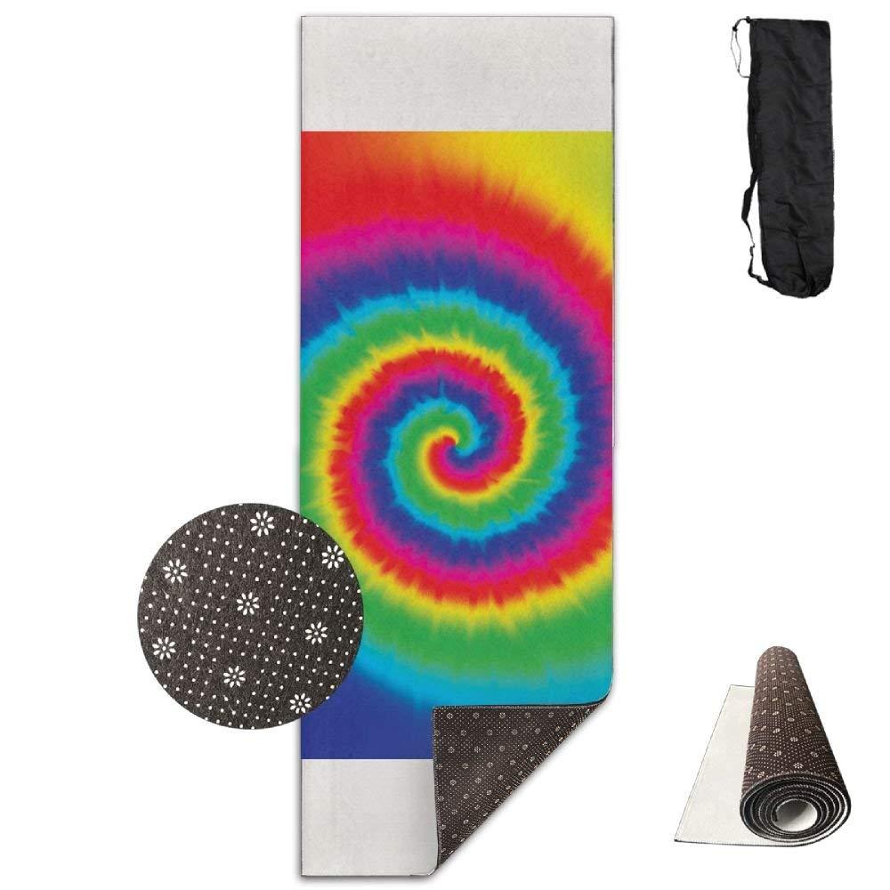 Rainbow Tie Dye Deluxe,Yoga Mat Aerobic Exercise Pilates Anti-slip Gymnastics Mats