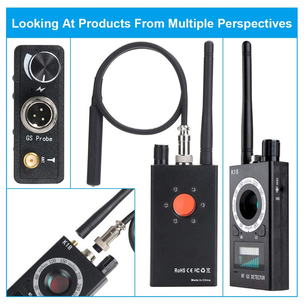 Handheld Radio Scanners Anti-Spy Wireless RF Signal Detector for Hidden Camera GSM Audio Bug Sweeper Finder Radio Scanner GPS Tracker US Plug