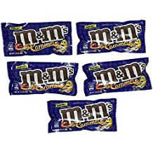 Five Packages of M&M'S Caramel filled Milk Chocolate Candy Singles Size 1.41-Ounce Pouch