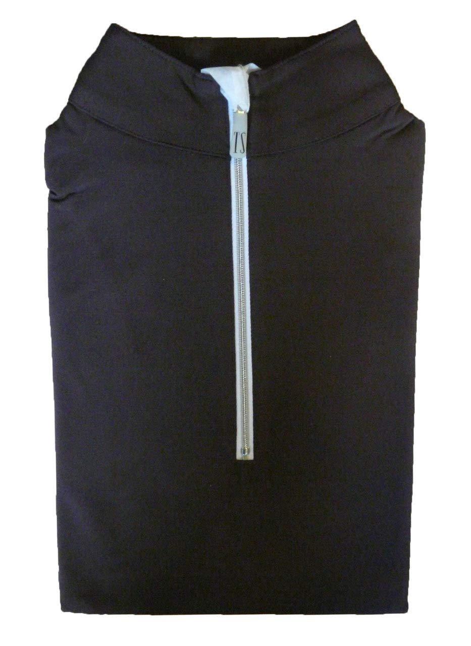 テーラードスポーツマン アイスフィル ジップトップシャツ ボーイズベリー/ホワイト/シルバー サイズS   B07MCQ7XPM