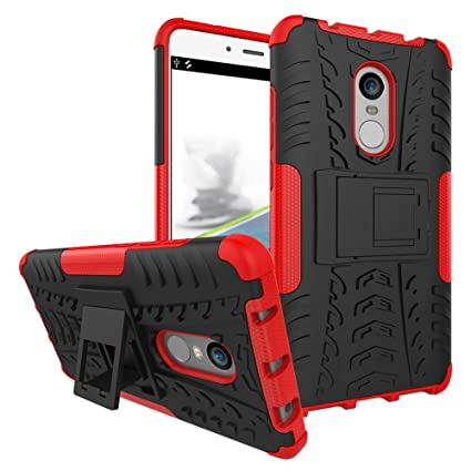 the best attitude 7beb1 8a7fe Xiaomi Redmi Note 4 Case, Redmi Note 4 Cover, Dual Layer Protection  Shockproof Hybrid Rugged Case Hard Shell Cover with Kickstand for 5.5''  Xiaomi ...