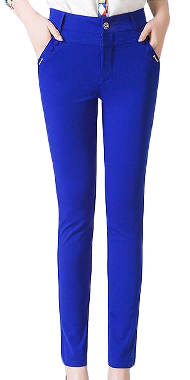 Genhao Women's Classic Woven Career Trouser Pant