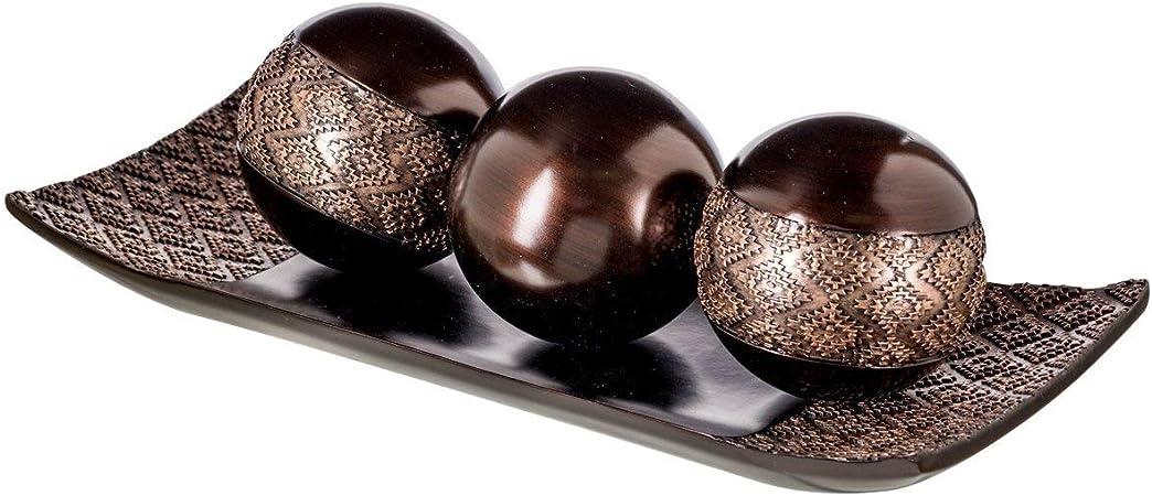 Acvioo Home Decor Plateau Et Orbs Balls Set De 3 Table Basse