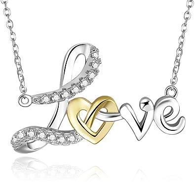 Amazon Bonlavie 18k Gold Plated 925 Sterling Silver Heart Love