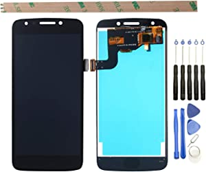 """YHX-US Replacement for Motorola Moto E4 XT1765 XT1766 5.0"""" US Version (USA) Moto E (4th Gen.) LCD Display Screen Touch Digitizer +A Set of Tools(Black)"""