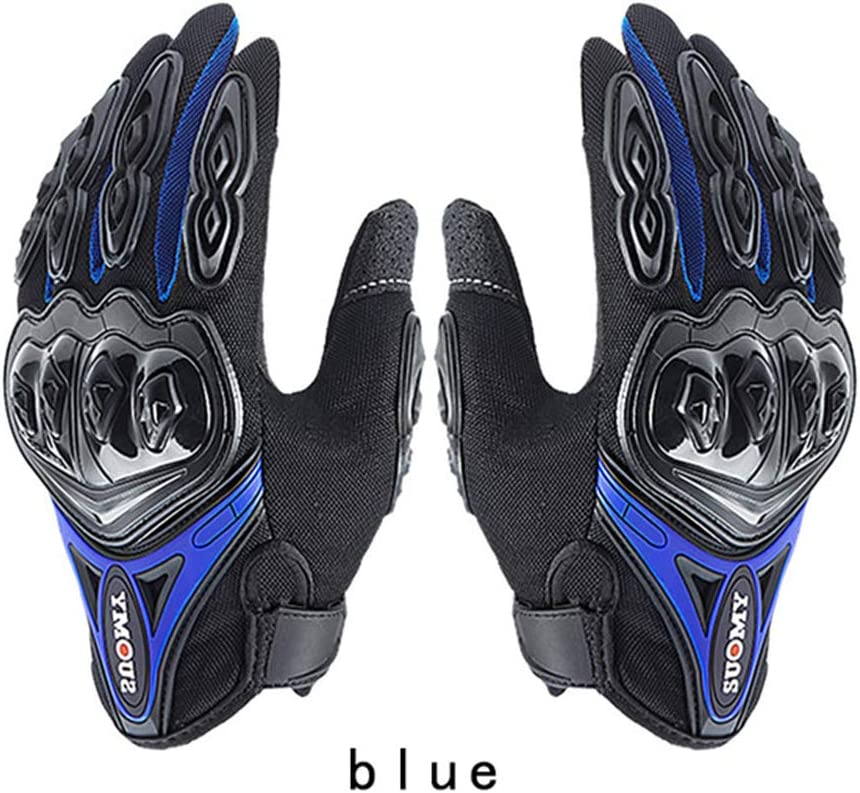 Motorcycle Gloves Men Racing Gant Moto Motorbike Motocross Riding Gloves Motorcycle Breathable Summer Full Finger Guantes SU09-Green, L