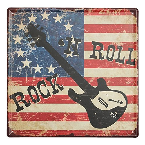 KISSMYTWINS Rock And Roll Tin Sign Vintage Metal Plaque Poster Bar Pub Home Wall Decor