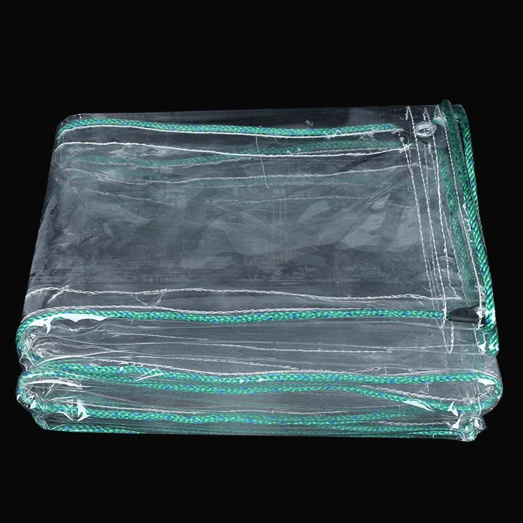 Nwn 防水透明ターポリンキャンバスバルコニー防水タープカーテン日焼け止めPVCプラスチック布(450g /㎡) (サイズ さいず : 5x8m)  5x8m