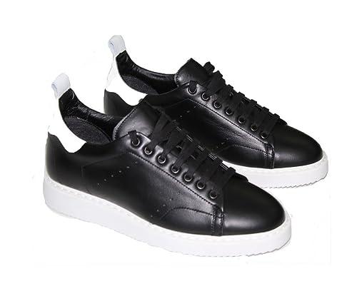 de con Zapatos napa Man de Cosida NOCORRECT 965000 Negra Goma Suela Piel 7Iwxaw0