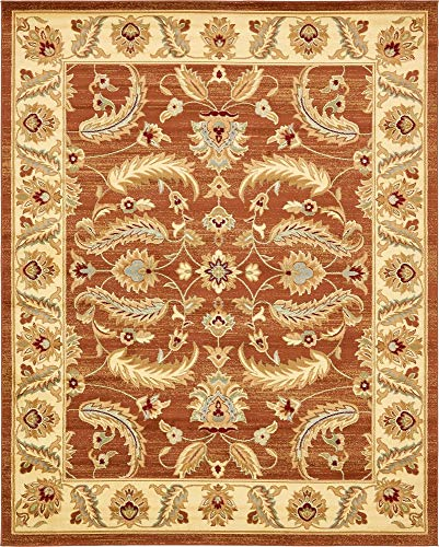 Brick Red Oriental Rug - Unique Loom Voyage Collection Traditional Oriental Classic Brick Red Area Rug (8' 0 x 10' 0)