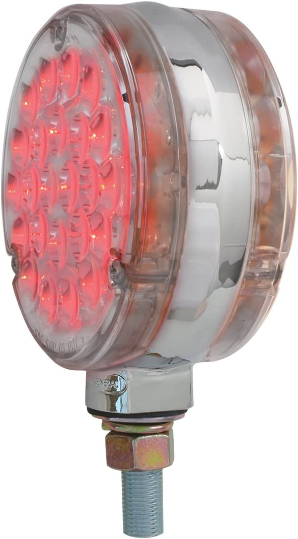 GG Grand General 76238 LED Light Small Low Pro Pearl Red 7 with Clear Bezel, 3Wire