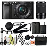 Sony Alpha a6000 Mirrorless Digitial Camera 24.3MP SLR Camera with 3.0-Inch LCD (Black) (16-50 & 55-210, Basic Kit)