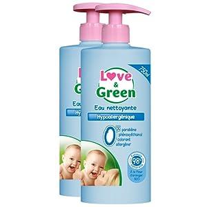 Love & Green - Eau Nettoyante Hypoallergénique 750 ml - Lot de 2