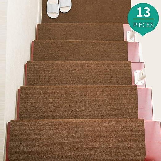 Jolitac - Alfombrillas antideslizantes para escalera, 27 x 8 pulgadas, 13 unidades, color marrón, para interiores, alfombras de escalera, alfombrillas de goma antideslizantes de seguridad, para niños, ancianos y mascotas.: Amazon.es: Juguetes y juegos