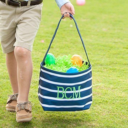 Wholesale Boutique Toy Bucket Storage Easter Halloween (Personalized, Navy -