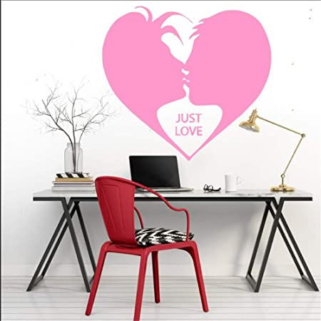 Ajcwhml Romántico Decorativo Pintura Mural Dos Amantes Beso ...