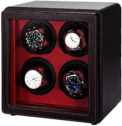 GOHHK Watch Winder 4 Watches Box Black, Watch Winders para Relojes AutomáTicos Estuches para Relojes Estuches para Relojes Winders Estuche: Amazon.es: Hogar